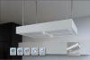Airforce Inselhaube Apiro 90/60 cm  Ø 90/60cm Edelstahl/ Glas weiß
